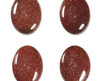 Dakota Stones Goldstone 18x13mm Oval Cabochon Gemstones. (1) CAB-GLD18x13OV