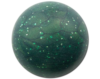 Vintage Matte Green Marbled Acrylic Domed Cabochons 30mm (2) cab814F