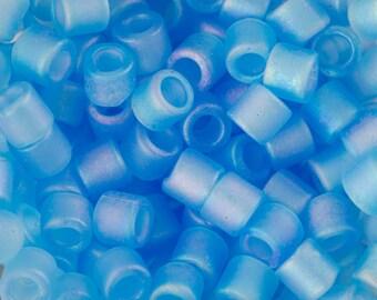 Matte tr Aqua AB Miyuki Delica Seed Bead 8/0 6.8G Tube DBL-0861-TB
