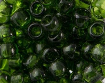 """Transparent Olivine Toho Seed Bead 6/0 2.5"""" Tube TR-06-940/C"""