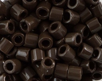 Opaque Chocolate Brown Miyuki Delica Seed Bead 8/0 6.8G Tube DBL-0734-TB