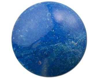 Vintage Marbled Lapis Blue Acrylic Cabochons 30mm (4) cab815D