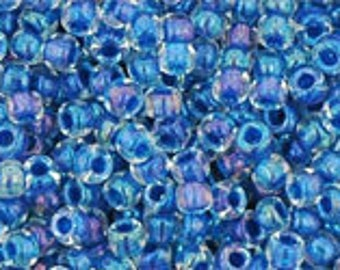 Inside Color Luster Crystal/ Caribean Blue Lined Toho Seed Bead 11/0 TR-11-189