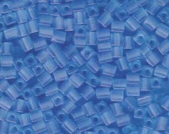 Transparent Frosted Light Blue Miyuki Cube Seed Bead 4mm 20gm Tube SB4-148F-TB