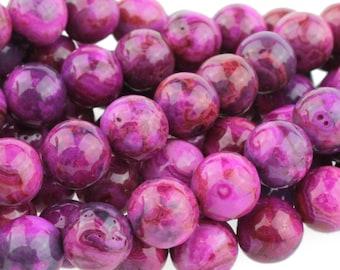 "Dakota Stones Pink Crazy Lace Agate 8mm Round Beads Gemstones. 8"" Strand. PKL8RD-8"