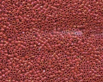 11/0 MIYUKI DELICA Opaque Red Luster Seed Bead (8g)