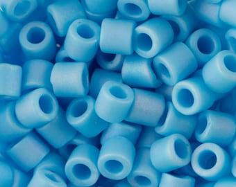 Matte OP Turquoise Blue Miyuki Delica Seed Bead 8/0 6.8G Tube DBL-0879-TB