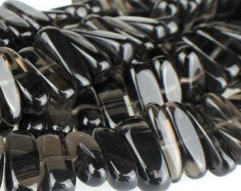 "30% OFF Dakota Stones Ice Obsidian 5X15 Center Drilled Flat Chip Bead Gemstones. 8"" Strand. ICE5x15CHP-8"