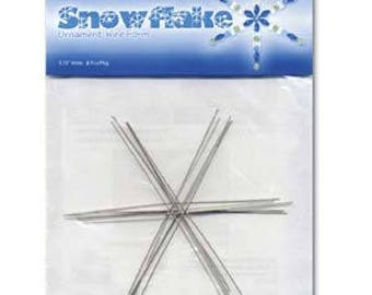 """Beadsmith Wire Snowflake Ornament Form 4.50"""""""