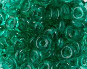 Emerald Czech O Bead 3.8x1mm 8.1gm Tube OB2450730-TB