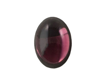 Transparent Amethyst Foiled Glass Oval Cabochons 18x13mm (2) cab4005D