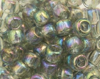 Transparent Rainbow Black Diamond Toho Seed Bead 6/0 TR-06-176