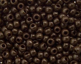 "Opaque Oxblood Toho Seed Bead (8g) 11/0 2.5"" Tube TR-11-46/C"