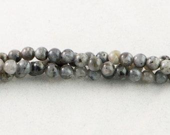 "30% OFF Dakota Stones Larvakite 4mm Round Beads Gemstones. 8"" Strand. LAR4RD-8"