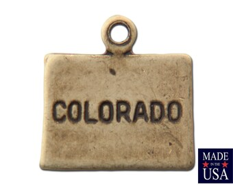 Brass Ox Tiny Colorado State Charm Drops 11x11mm(6) chr203Z
