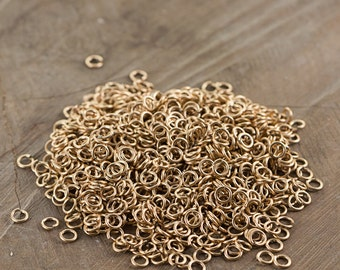 6mm OD Open Raw Brass Jump Rings 18 Gauge  Made in the USA (100) fnd200A