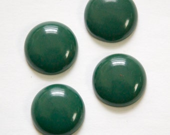 Vintage Hunter Green Acrylic Cabochons 18mm (4) cab834D