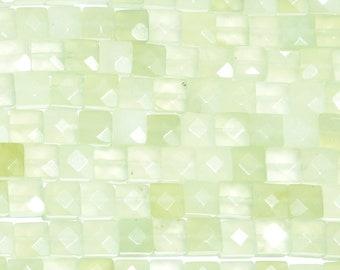 "30% OFF Dakota Stones New Burma Jade 8mm Faceted Square Bead Gemstones. 8"" Strand. NBJ8SQU-F-8"
