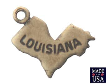 Brass Ox Tiny Louisiana State Charm Drops (6) chr203W