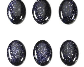 Dakota Stones Blue Goldstone 14x10mm Oval Cabochon Gemstones. CAB-BGS14x10OV