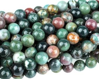 "Dakota Stones Fancy Jasper 8mm Round Gemstones 8"" Strand FAN8RD-8"