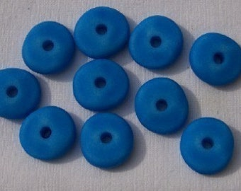 Vintage Lucite Ocean Blue Mediterranean Washed Wave Beads bds176