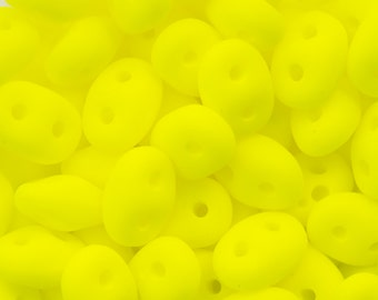 """Neon Yellow SuperDuo Beads 2/5mm 2.5"""" Tube 364-25-25121/C"""