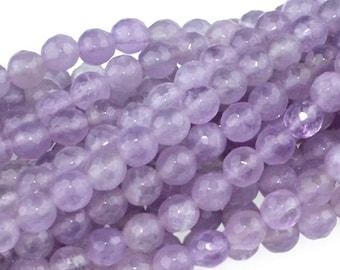 "Dakota Stones Lavender Amethyst 6mm Faceted Round Gemstones. 8"" Strand. LAV6RD-F-8"