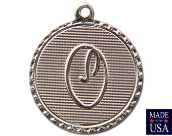 Silver Plated O Letter Charm Drop with Loop (1) chr221O