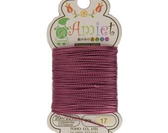 Burgundy Toho Amiet Polyester Thread 22yrds/20m