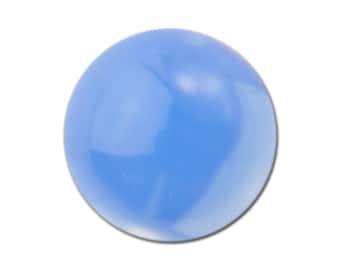 Czech Medium Blue Opal Glass Cabochons 7mm (6) cab3003AC