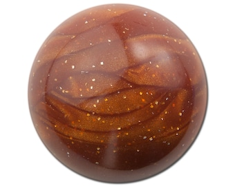 Vintage Brown Marbled Acrylic Domed Cabochons 30mm (2) cab814B