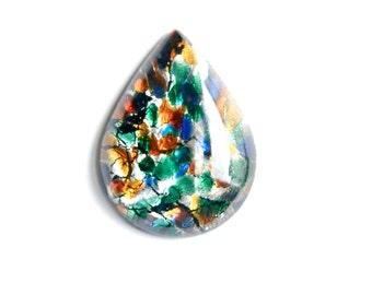Fiesta Opal Glass Teardrop Cabochon 40x30mm (1) cab555P