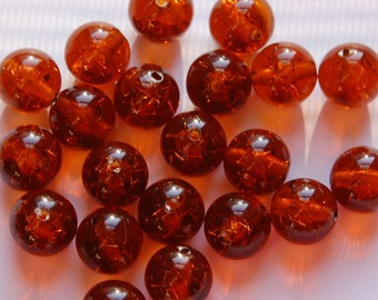 Vintage Topaz Colored Lucite Confetti Beads 13mm bds874A