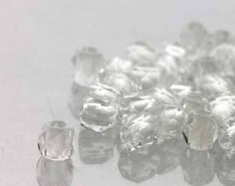 True 2 Czech Crystal Faceted Fire Polished Glass Beads 2mm (200+/-)