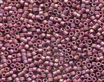 Frosted Opaque Glazed Rainbow Dark Red Miyuki Delica Seed Bead 11/0 7.2G Tube DB2308-TB