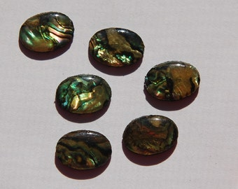 Vintage Paua Shell Cabochons 14mm x 10mm cab725