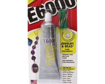 E6000 Jewelry & Bead Glue. 1oz w/ 4 Applicator Tips.