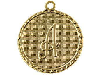 OOPS*** Gold Plated Letter A Initial Charm Drop with Loop (1) chr215AOOPS