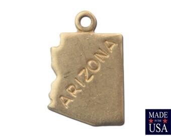 Raw Brass Tiny Arizona State Charm Drops (2) chr202BB