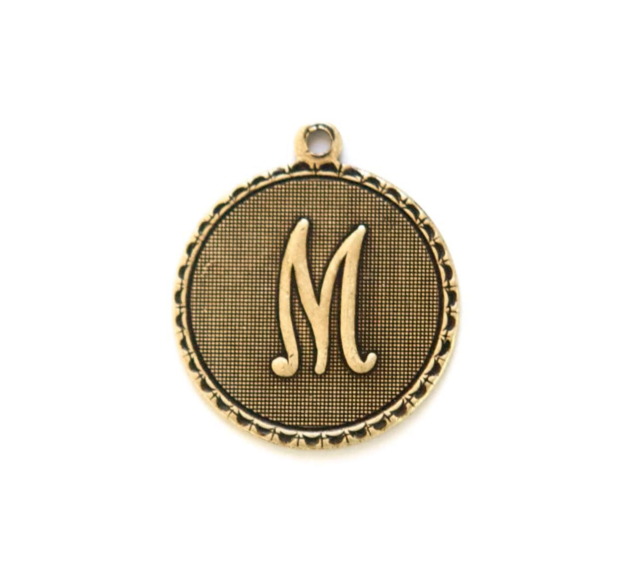mtl065M Brass Ox Layered Triangle Pendant Charm Drop SM 6