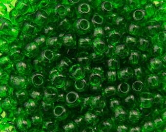 "Transparent Grass Green Toho Seed Bead 11/0 2.5"" Tube TR-11-7B/C"