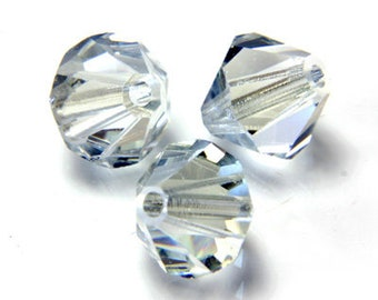 4mm Crystal Lagoon Czech Faceted Bicone Glass Beads (50)