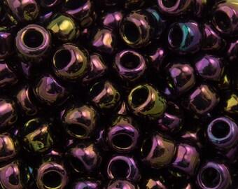 """Metallic Iris Purple Toho Seed Bead 8/0 2.5"""" Tube TR-08-85/C"""
