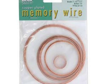Beadsmith Copper Plated Memory Wire Assorted Sizes