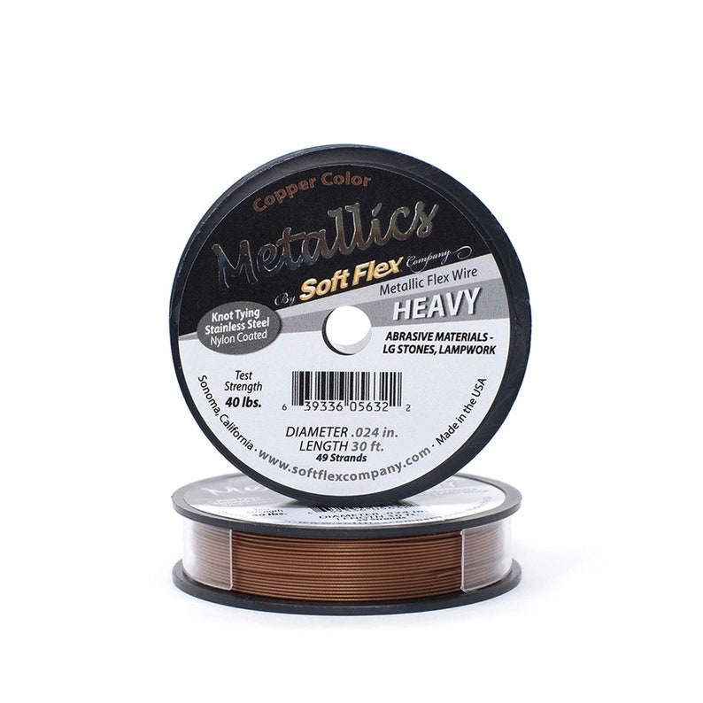 0.024in0.61mm Copper Soft Flex Heavy Beading Wire 1030100ft