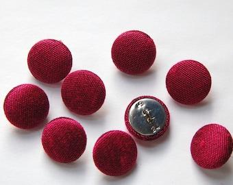 Vintage Fuchsia Silk Buttons 15mm btn002S