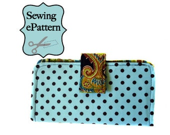 2- PDF Sewing Pattern, Sew Spoiled Presto Wallet and Lanyard