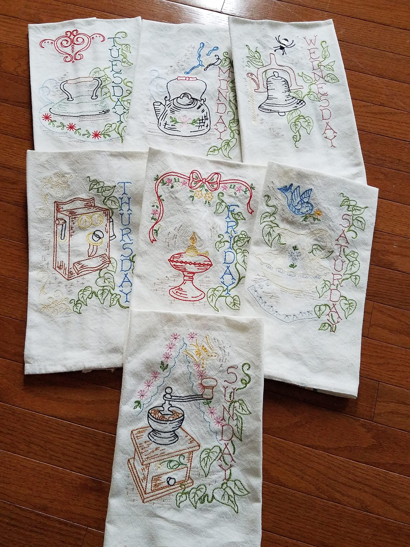 Embroidered Kitchen Towel Designs