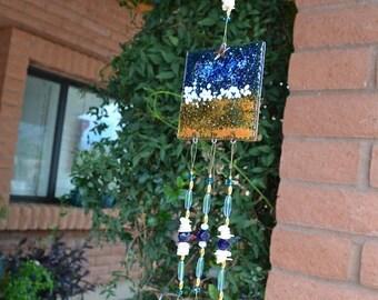 Ocean Windchime Starfish Wedding Gift Housewarming Gift Garden Art Porch Decor